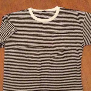 JCrew blue white striped bodysuit XXL